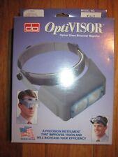 OptiVISOR Optical Glass Binocular Magnifier - Donegan Optical #DA3 NIB