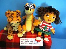 Ty Beanie Babies Dora,Swiper,and Baby Jaguar plush(310-3406)