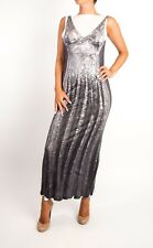 MAISON MARTIN MARGIELA.MMM H&M GREY Sequin Print Maxi Dress UK 6 US 2
