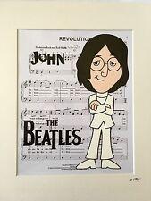 The Beatles - John Lennon - Late 1960's - Hand Drawn & Hand Painted Cel