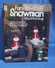 Fun-To-Stuff Snowman Quilting Pattern Book - House of White Birches 141137