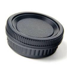Plastic Body Cap and Lens Rear Cap Set For Pentax K Mount SLR DSLR Camera J3