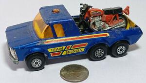 Team Honda K-6/11 Pick-up Truck Motorcycle Matchbox Lesney Super Kings Rare Vtg