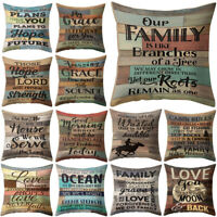 18'' Vintage Letter Throw Pillow Case Sofa Home Office Decor Sight Cushion Cover