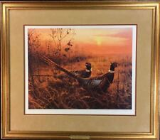"""Marc R. Hanson Limited Pencil-Signed Print: """"First Alert: Ring-necked Pheasants"""""""