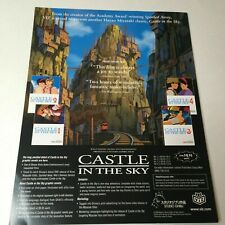 Castle In The Sky / Spirited Away Official Promo Flyer Viz Studio Ghibli (2003)