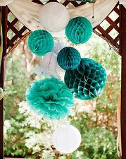 8pcs/set Wedding Birthday Party Room Decoration Honeycomb Balls Pompoms Lanterns