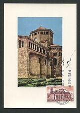 SPAIN MK 1970 KLOSTER RIPOLL KIRCHE CHURCH MAXIMUMKARTE MAXIMUM CARD MC CM c9074