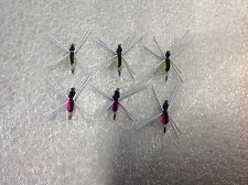 6 Fly Fishing Sinking Spiders #10 Hooks Trout Panfish Bluegill Bream Crappie