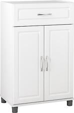"""New 24"""" 1 Drawer 2 Door Base Storage Cabinet Cupboards Home Kitchen Organizer"""