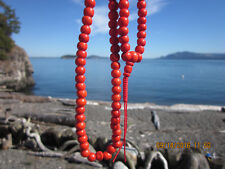 TIBETAN NUNS PROJECT HANDCRAFTED & BLESSED BY NUNS RECYCLED RED BONE MALA INDIA