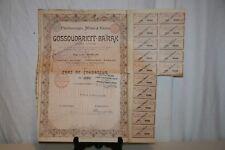ANCIENNE ACTION GOSSOUDARIEFF-BAÏRAK  DE 1899.