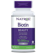 Natrol Biotin 10000 Mcg Maximum Strength Dietary Supplement - 100 Tablets