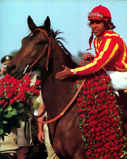 Cannonade 1974 Kentucky Derby Winner (Jockey - Angel Cordero), 8x10 Photo
