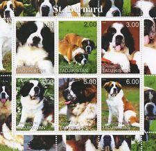 ST BERNARD DOG CANINE ANIMAL PET TADJIKISTAN 2000 MNH STAMP SHEETLET
