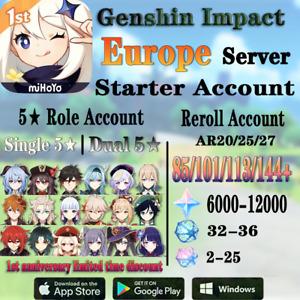 Europe/EU Genshin Impact Diluc Hu Tao Eula Zhongli Xiao Baal Ayaka Kazuha Venti