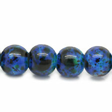 140 Loose Blue Glass Drawbench Beads 6mm. Ideal for Jewellery Making
