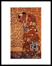 Gustav Klimt Fulfillment Poster Bild Kunstdruck im Alu Rahmen in schwarz 36x28cm