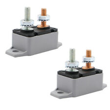 4pcs 12v Auto Automatic Fuse Reset Circuit Breaker Copper Stud Bolt Type 50 Amp
