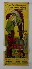 SLIM CARTER Movie Poster (Fair) Insert 1957 Cowboy Western 642