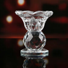 Crystal Glass Block Lotus Flower Metal Candle Holders Feng Shui Home Decor Big T