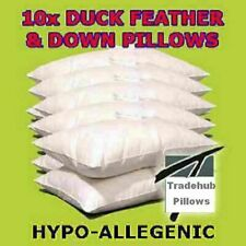 Luxury 100% Duck Feather & Down Pillows Extra Filled Hotel Quality Cheap on Ebay