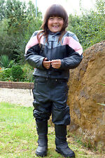 Baby Biker Champ Kids Toddler Childs Soft Leather Biker Style Jacket Pink - T