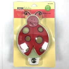 "Restore & Restyle Cutie Kids Ladybug 6"" Night Light Glows In The Dark Red Pink"