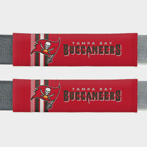 Tampa Bay Buccaneers NFL 2 Pack Rally Seat Belt Shoulder Pad Covers Car Truck