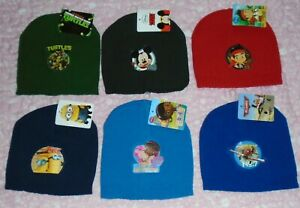 New Unisex Beanie Hat One Size Knitted Official Disney Nickelodeon 3-6 years