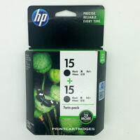 HP 15 Twin-pack Genuine Ink Cartridges In Retail Box CC626AA C6615DN