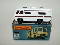 Matchbox Superfast No 54 Mobile Home BROWN STRIPE TAMPO MIB VERY RARE