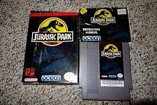Jurassic Park (Nintendo Entertainment System NES, 1993) Complete in Box FAIR H