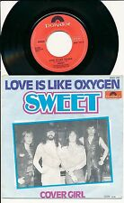 "THE SWEET 45 TOURS 7"" BELGIUM LOVE IS LIKE OXYGEN"