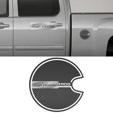 Fuel Oil Tank Door Cap Carbon Decal Sticker Cover for CHEVY 2014-2018 Silverado