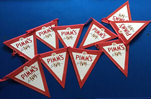 PIMMS 10 FLAG BUNTING BAR,MAN CAVE DECORATION . USED.