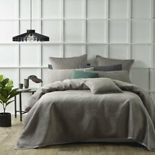 Bianca Harlow Stone Coverlet Set Bedspread Single / Double Bed Size
