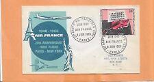FIRST FLIGHT AIR FRANCE 20th ANNIV FLIGHT PARIS / NY JUN 8 1966