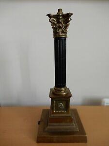 Antique/Vtg.Rewireable, Corinthian Column Lamp Base,  Brass & Bakelite Fluted