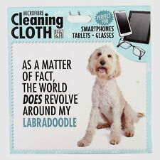Labradoodle Microfibre Cleaning Cloth For Tablet Phone Glasses Dog Lovers Gift