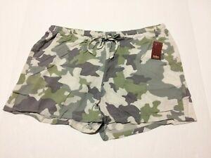 Nobo No Boundaries Shorts For Women M (7-9) Camouflage NWT 100% Rayon