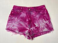 LEVI'S 550 Denim Hotpants Shorts - W29 - Pink Tie Dye - Great Condition