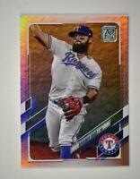 2021 Topps Series 1 Base Rainbow Foil #293 Rougned Odor - Texas Rangers