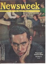 EDWARD ALBEE, PLAYWRIGHT, SIGNED MAGAZINE COVER / AUTOGRAPH