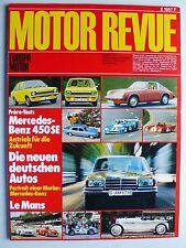 Zeitschrift Motor Revue Heft 87 Herbst 3.1973 mit MB 450 SEL, Ferrari 365 GT BB