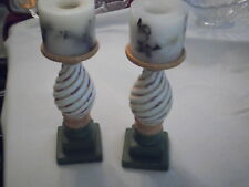 """Pair of  Multi Color candle stands for 3"""" Candles 10"""" tall w/out candle"""