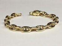 """14kt Solid Yellow Gold Anchor Mariner Chain/Bracelet 10 MM 37 grams  8"""""""