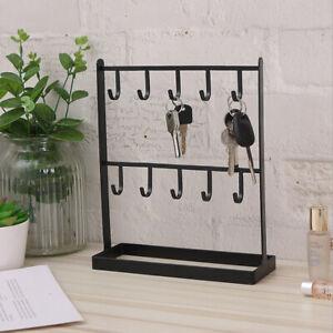 Table top ironwork jewelry earrings ring frame Key Rack pendant Hook Stand holde