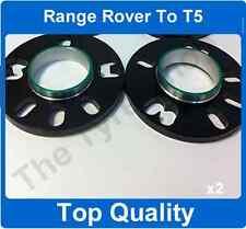 RANGE Rover per VW T5 10mm HUBCENTRIC Lega Ruota Spacer Kit di montaggio il 72,6 - 65,1