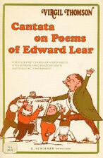 Cantata in POESIE DI EDWARD LEAR VOCAL SCORE CANTARE VOCE Choral Music BOOK